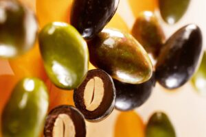 Olives en chocolat de la Confiserie Doucet